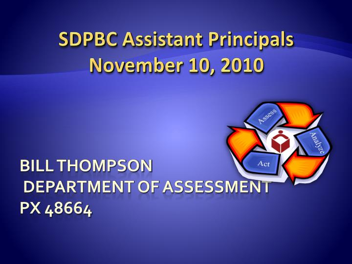 Bill thompson department of assessment px 48664