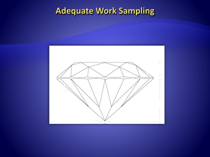 Adequate Work Sampling