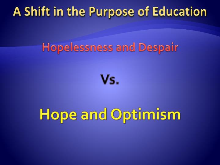 Hopelessness and Despair