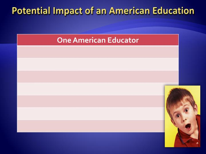 Potential Impact of an American Education