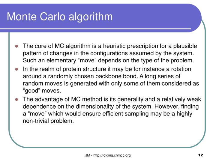 Monte Carlo algorithm