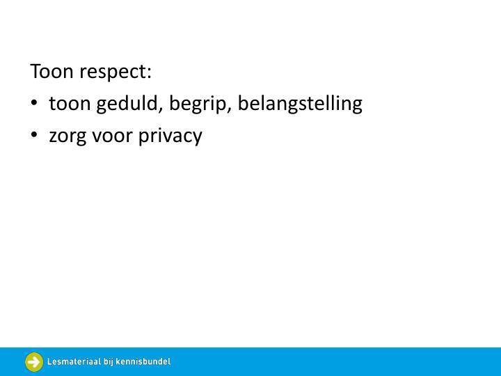 Toon respect:
