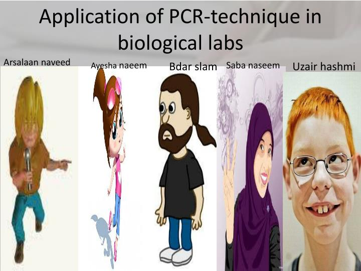 application of pcr technique in biological labs n.