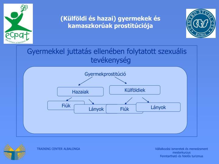 (Külföldi és hazai) gyermekek és kamaszkorúak prostitúciója