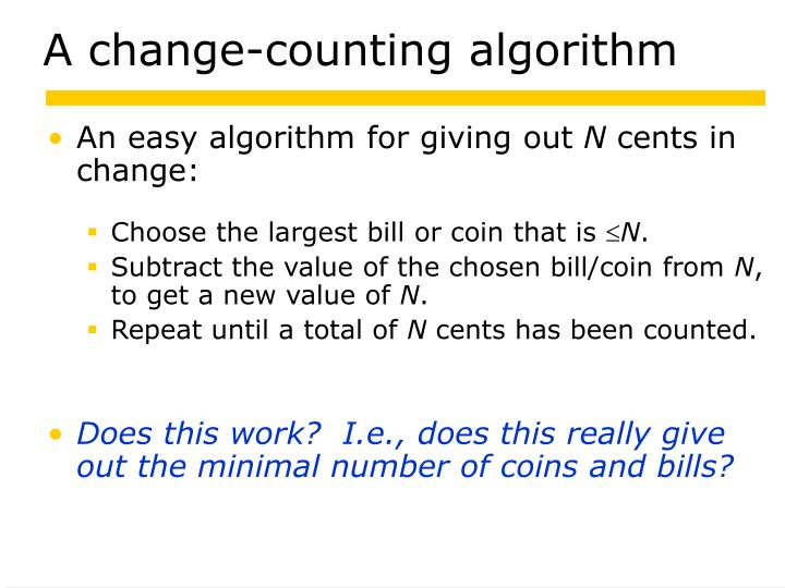 A change-counting algorithm