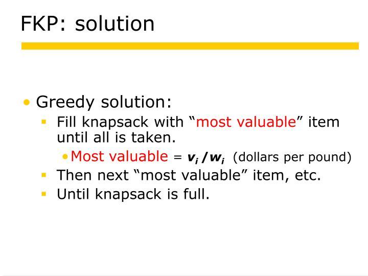FKP: solution