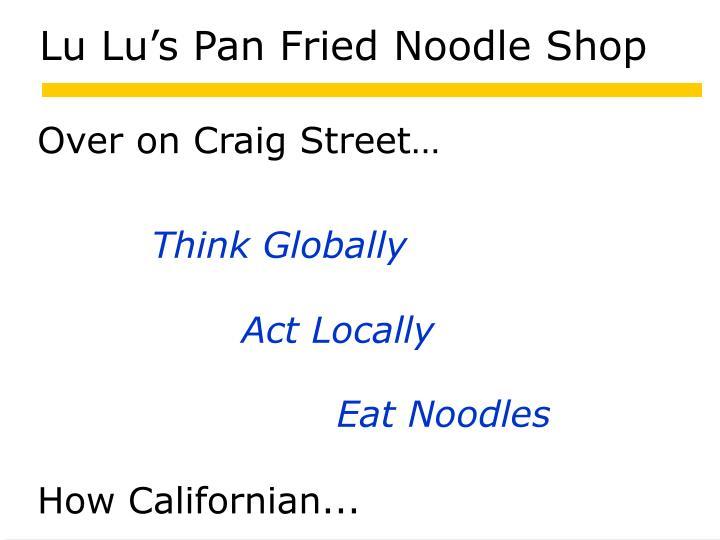 Lu Lu's Pan Fried Noodle Shop