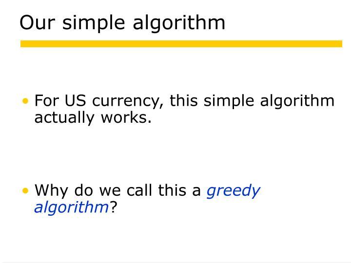 Our simple algorithm