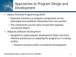 approaches to program design and development5