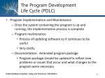 the program development life cycle pdlc28