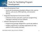 tools for facilitating program development4