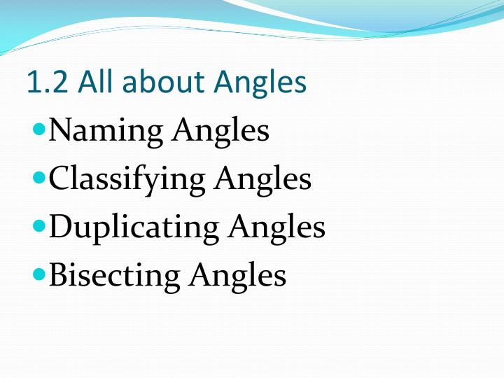 1.2 All about Angles