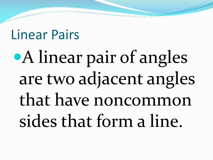 Linear Pairs