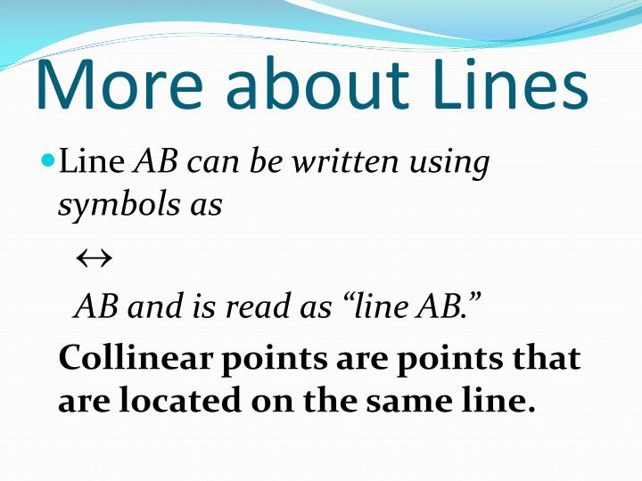More about Lines