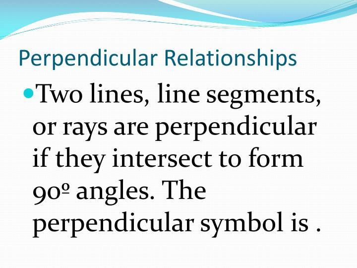 Perpendicular Relationships