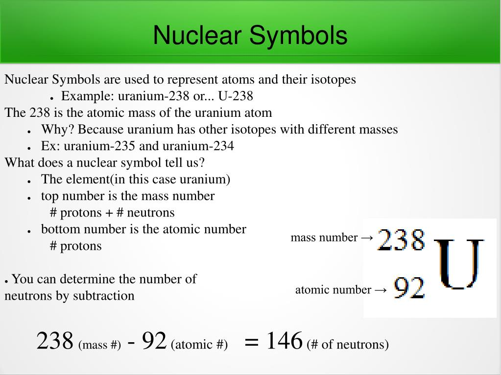 Ppt Nuclear Symbols Powerpoint Presentation Id5480785