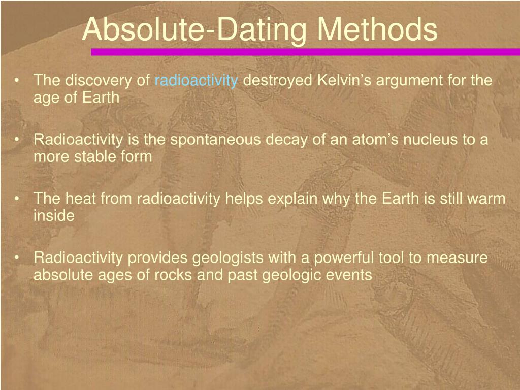 4 types of absolute dating