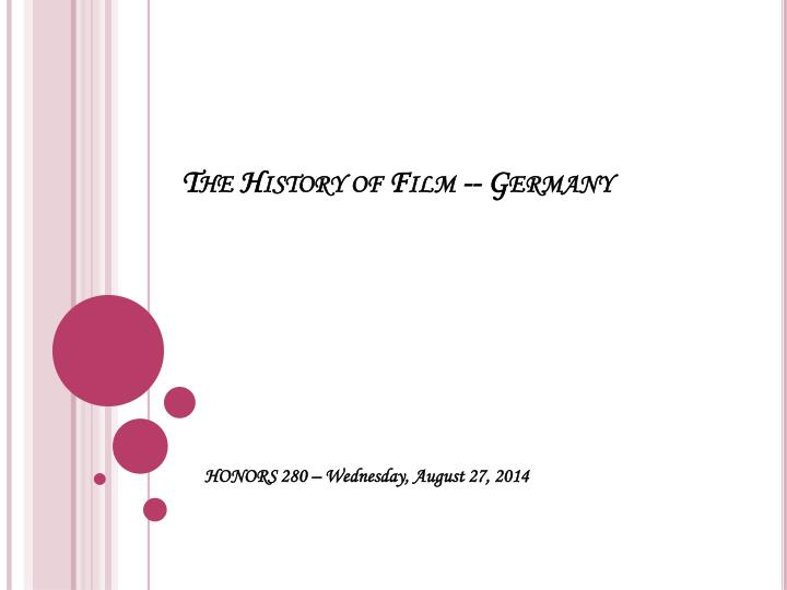 the history of film germany n.