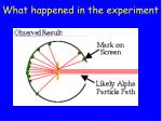 what happened in the experiment