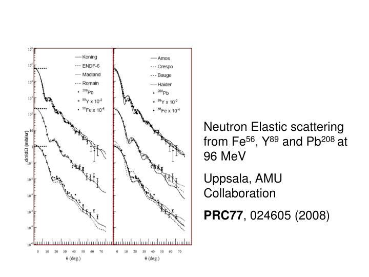 Neutron Elastic scattering from Fe
