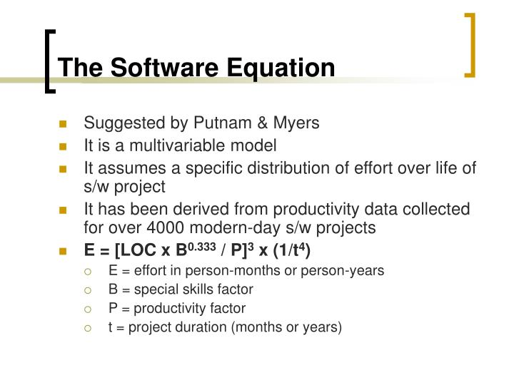 The Software Equation