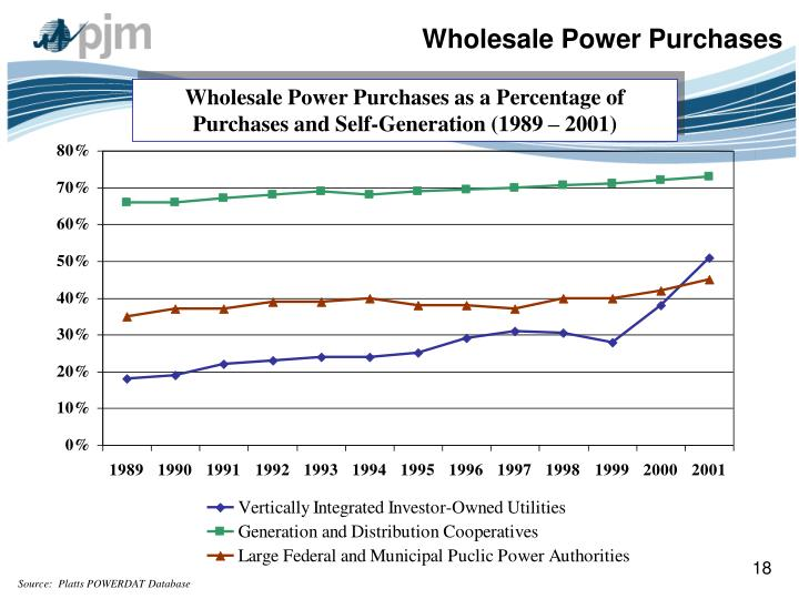 Wholesale Power Purchases