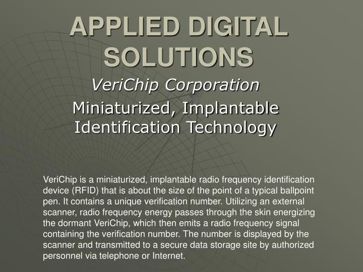 Applied digital solutions
