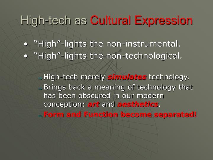 High-tech as