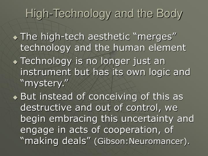 High-Technology and the Body