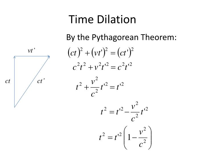 Ppt Special Relativity Time Dilation And Length