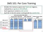 sms 101 per core training