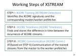 working steps of xstream