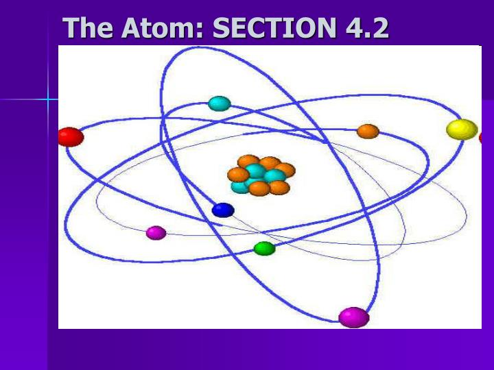 the atom section 4 2 n.