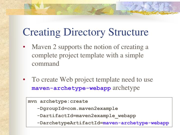 Creating Directory Structure