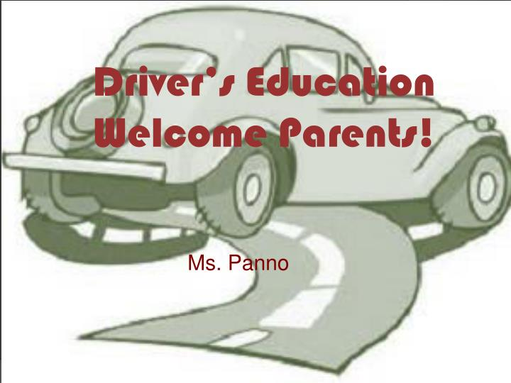 driver s education welcome parents