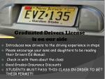 graduated drivers license is on our side