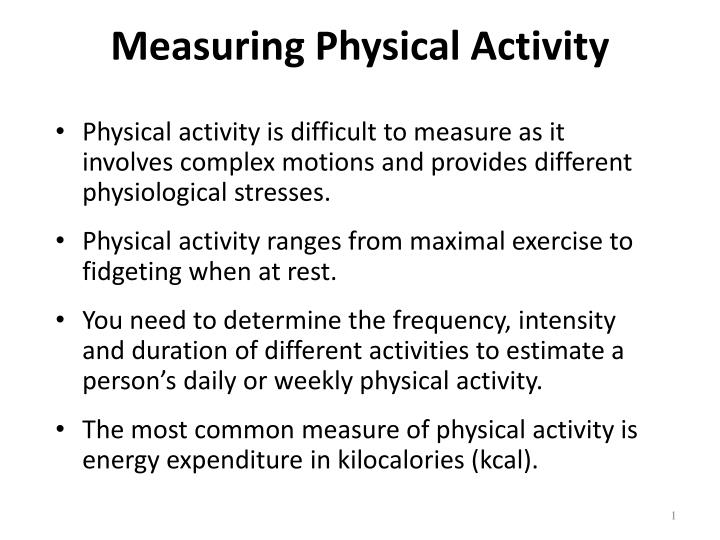measuring physical activity n.