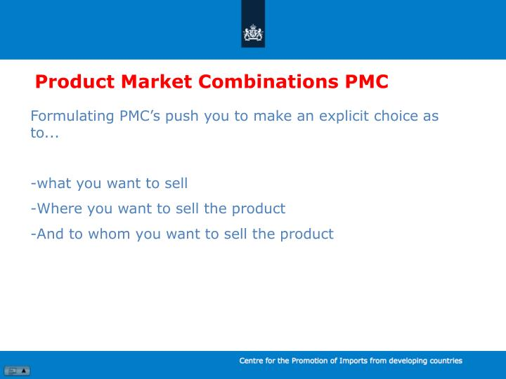 Product Market Combinations PMC