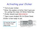 activating your clicker
