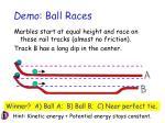 demo ball races