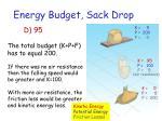 energy budget sack drop1