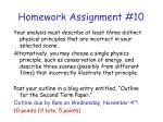 homework assignment 101