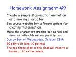 homework assignment 9