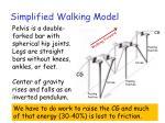 simplified walking model