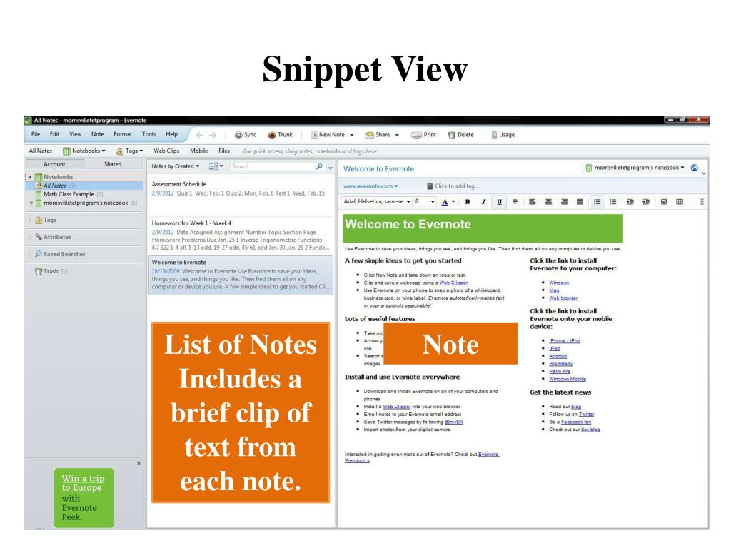 PPT - evernote PowerPoint Presentation - ID:5482349