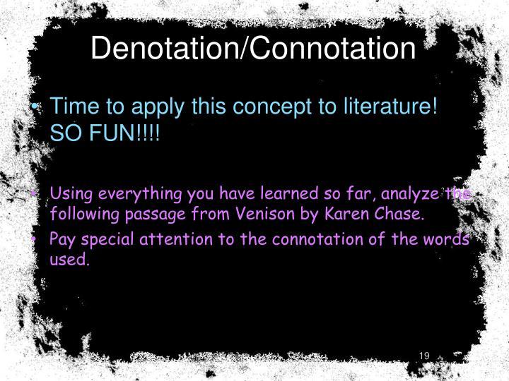 Denotation/Connotation