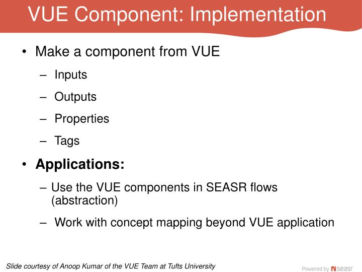 VUE Component: Implementation