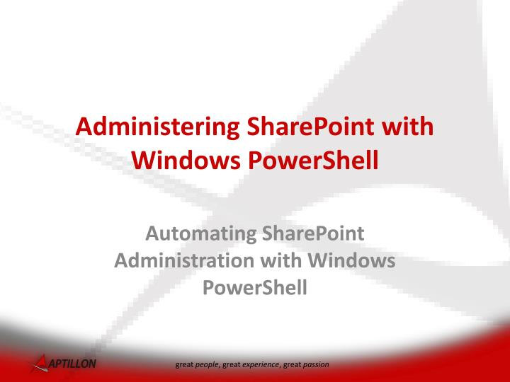 administering sharepoint with windows powershell n.