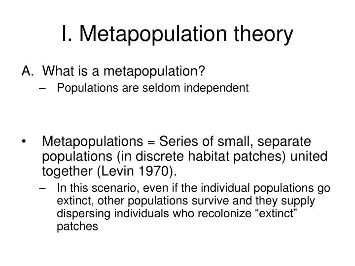 I metapopulation theory