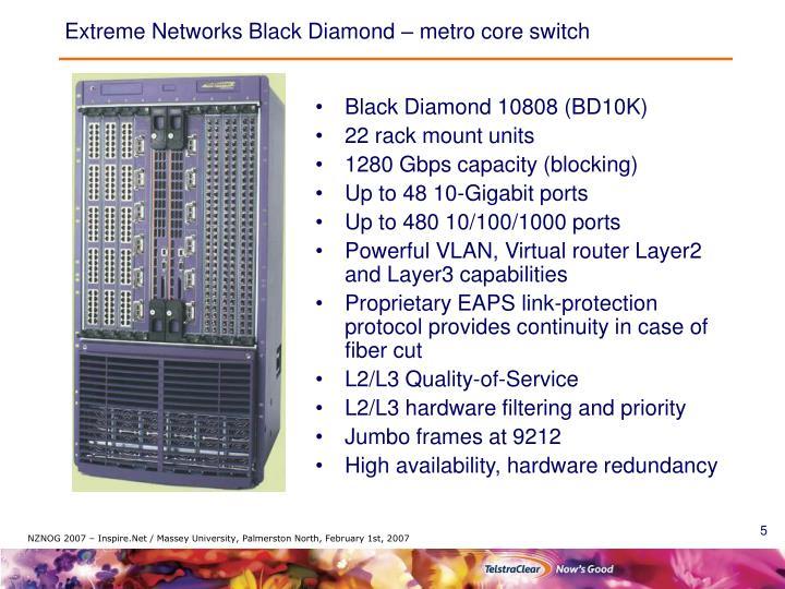 Extreme Networks Black Diamond – metro core switch